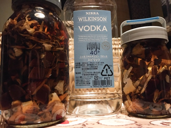 Mushrooms and vodka